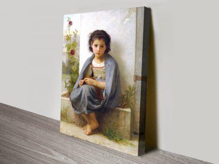 The Little Knitter Bouguereau Art on Canvas