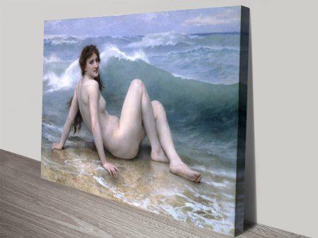 Buy The Wave-Bouguereau Classic Art Prints