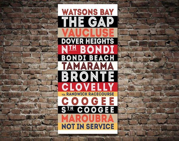 Buy Watsons Bay Tram Banner Artwork AU
