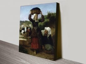 Washerwomen of Fouesnant Print on Canvas
