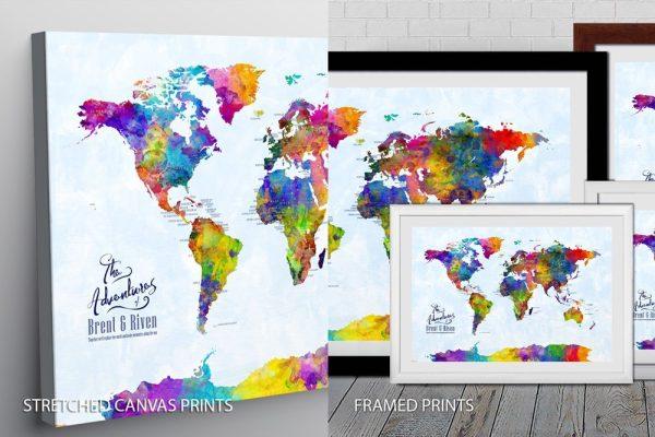 Watercolour Map Quality Print
