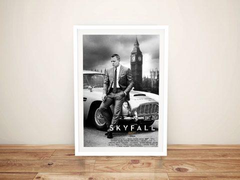 Skyfall 007 Movie Poster Wall Art Print