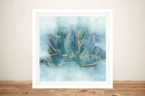 Gilded Lotus Framed Wall Art by Chris Paschke