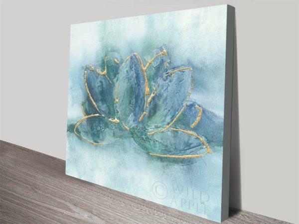 Watercolour Lotus Leaf Print Great Gift Ideas AU