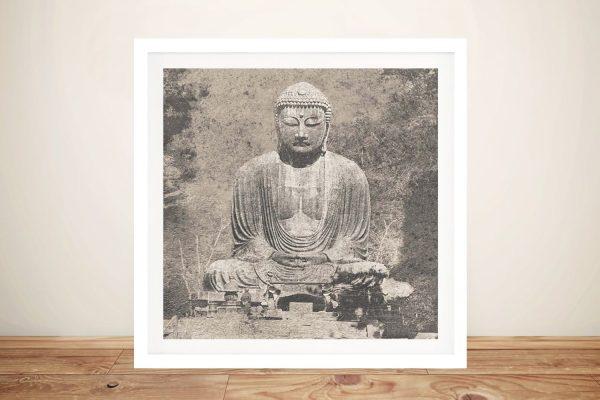 Asian Buddha l Spiritual Wall Art on Canvas