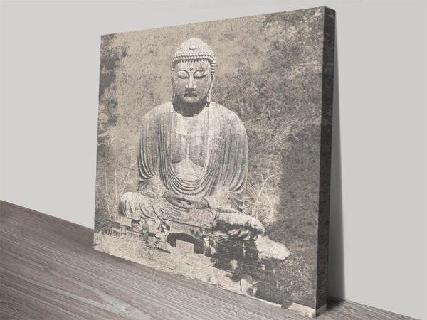 Vintage Effect Buddha Ready to Hang Artwork