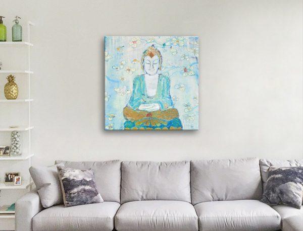 Ready to Hang Calming Buddha Painting Print
