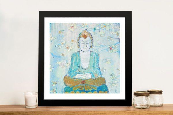 Framed Buddha Watercolour Wall Art AU