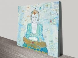Buddha by Kellie Day Spiritual Canvas Artwork