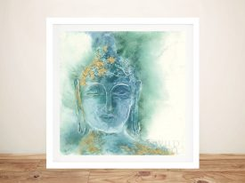Buy Gilded Buddha l Framed Print on Canvas
