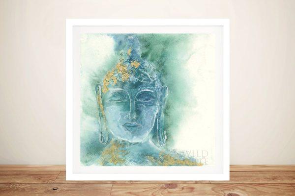 Buy Gilded Buddha l Framed Print on Canvas