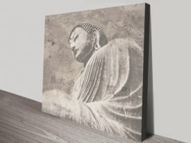 Asian Buddha ll Vintage Effect Spiritual Wall Art