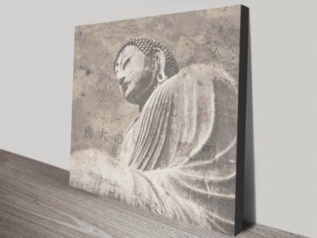 Asian Buddha ll Vintage Effect Spiritual Wall Art