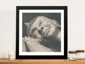 Buy a Reclining Buddha Framed Print on Canvas