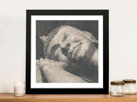 Buy a Reclining Buddha Framed Print on Canvas