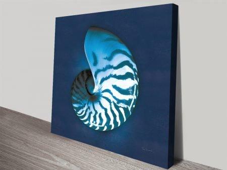 Cyanotype Sea l Nautical Theme Canvas Prints