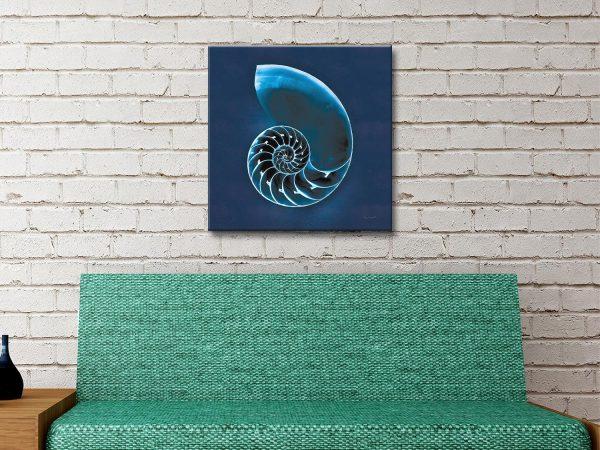 Cyanotype Sea Ready to Hang Nautical Art