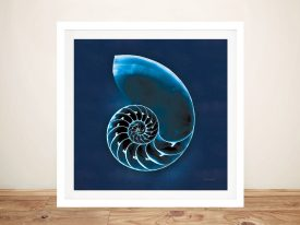 Cyanotype Sea ll Nautical Prints on Canvas