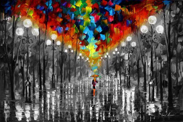 A Date With The Rain colour Splash Art