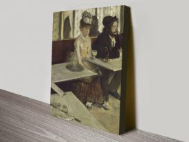 The Absinthe Drinker Classic Degas Wall Art