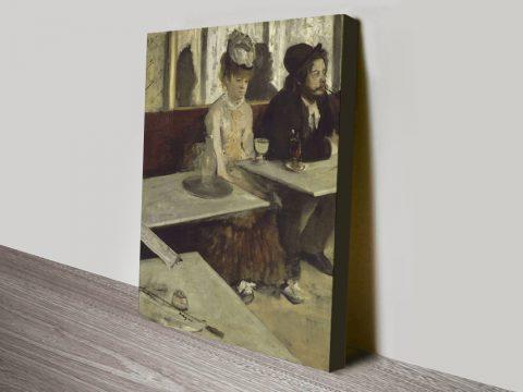 The Absinthe Drinker Classic Degas Wall Art