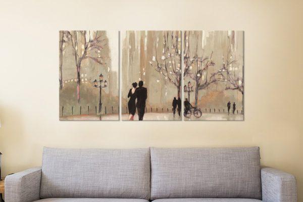 An Evening Out Julia Purinton 3-Panel Art