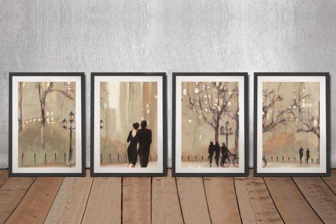 An Evening Out 4-Panel Wall Art Set