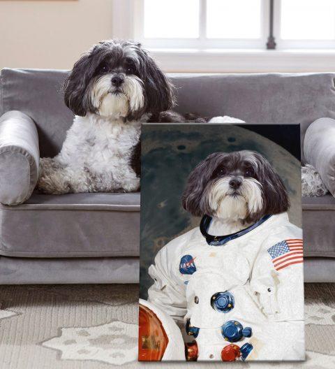 Personalised Framed Astronaut Pet Portrait