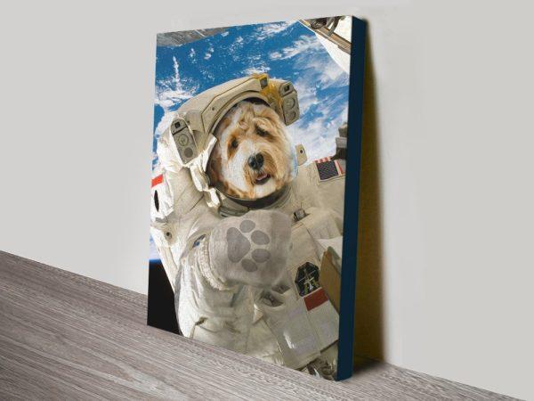 The Astronaut Crown & Paw Pet Portraits