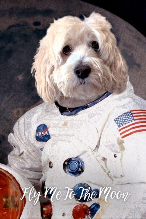 Astronaut Dog Portrait Gift