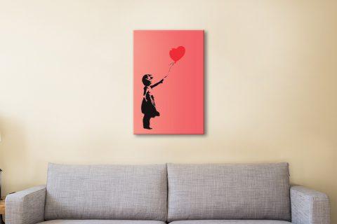 Ready to Hang Banksy Print of Balloon Girl