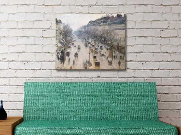 Boulevard Montmartre Classic Canvas Art Online