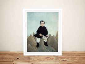 Boy on the Rocks Henri Rousseau Framed Print