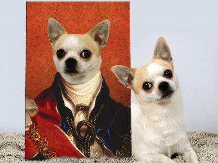 King of England Custom Pet Portrait on Canvas
