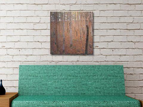 Buchenwald Klimt Canvas Artwork