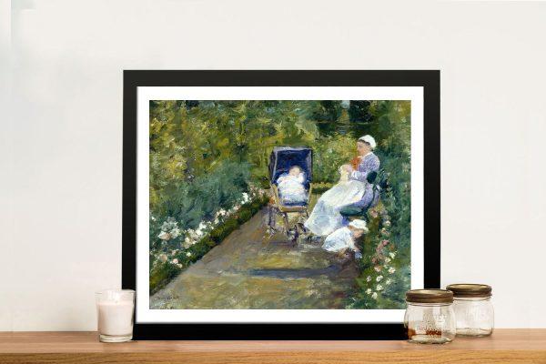Children in the Garden Mary Cassatt Wall Art