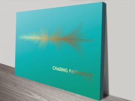 Chasing Pavements Waveform blue and gold canvas print