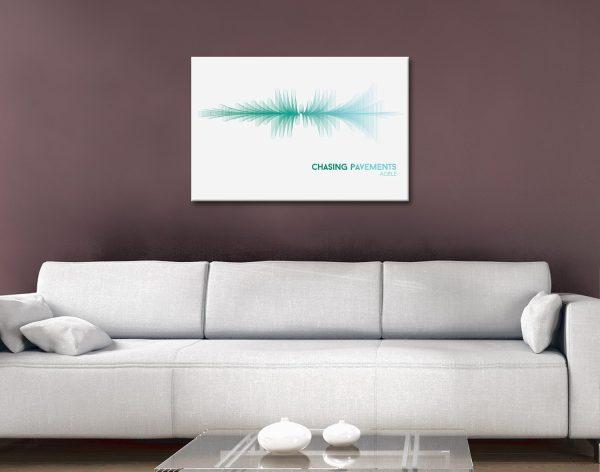 Chasing Pavements Radial Waveform Ocean tones canvas artwork
