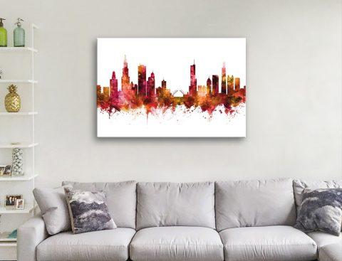 Michael Tompsett Chicago Skyline Wall Art
