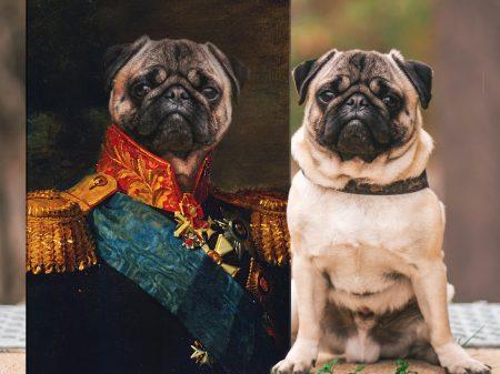 The Baron Custom Pet Portrait Prints on Canvas