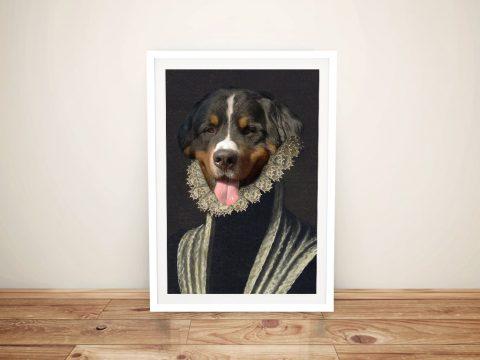 The Duchess Framed Custom Pet Portrait