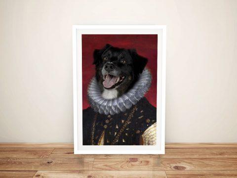 Archbishop Framed Personalised Pet Portraits