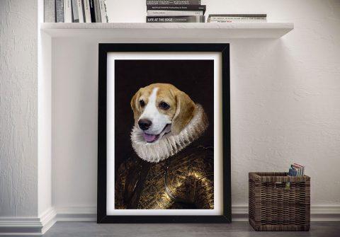 The Duke Personalised Pet Portrait Canvas Art