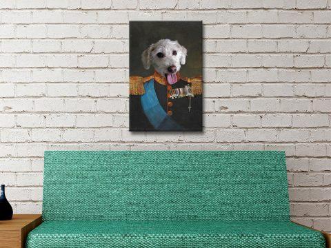 Ready to Hang Custom Tsar Pet Portrait AU