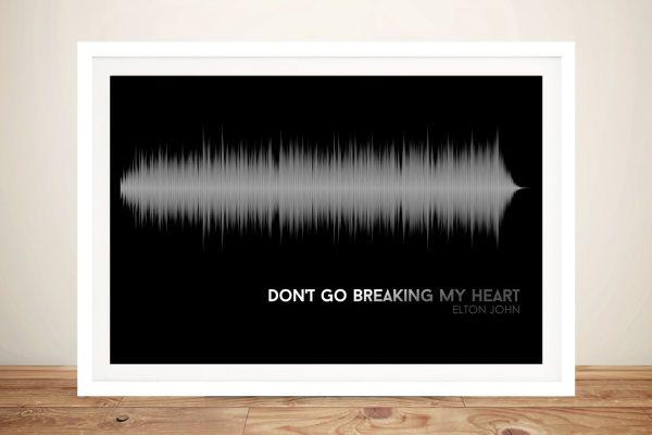 Don't Go Breaking My Heart Wall Art