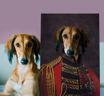 The Earl Canvas Custom Pet Portrait