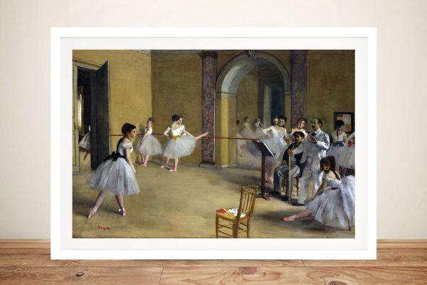 Buy a Framed Print of The Dance Foyer Online