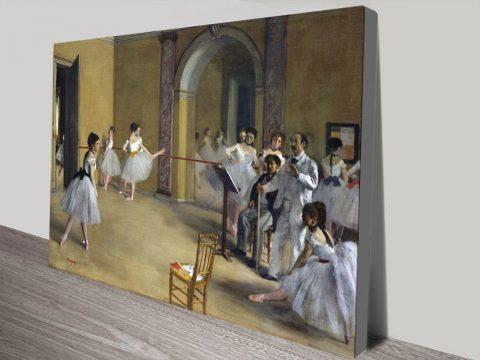 The Dance Foyer Degas Print on Canvas