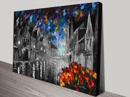 Frozen Night Colour Splash Canvas Art