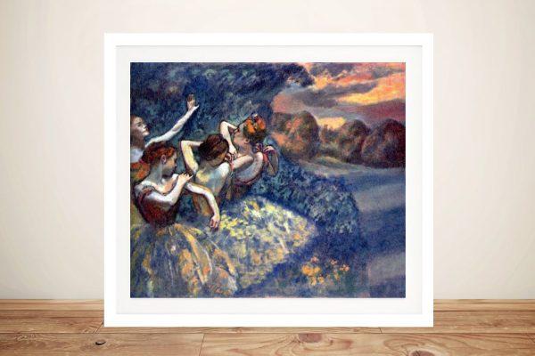 Four Dancers Ready to Hang Degas Artwork